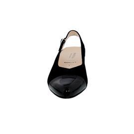 Hassia Marbella, Samtziege-Leder / Lack, schwarz, Vario-Fussbett, Weite H 302853-0100