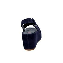 Högl Plateau-Sandalette, Velourkid-Leder, blue 103202-3200