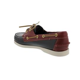 Sebago Spinnaker, Full-Grain Leather, Blue Navy / Dark Red, Men 70001B0-994