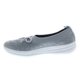 FitFlop Uberknit Slip-On Ballerina with Bow, Pearl E90-618