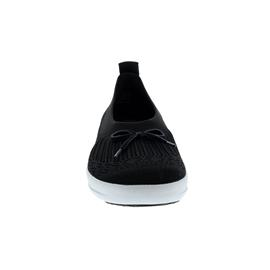 FitFlop Uberknit Slip-On Ballerina with Bow, Black E90-001