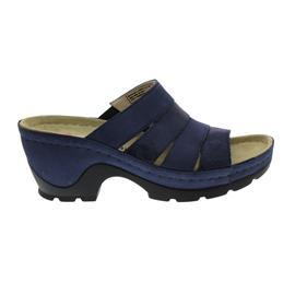 Berkemann Gioia, blau/Waben/shiny, Leder/Nubuk, Pantolette, Weite G 1653-310