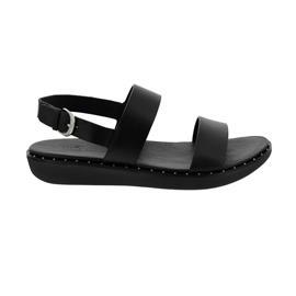 FitFlop Barra Black, Glattleder, Leather Sandale R89-001