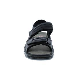 Berkemann Fabian, Sandale, schwarz, Glattleder, Wechselfußbett, Weite G-J 5802-901