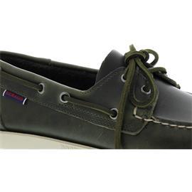 Sebago Docksides, Full-Grain Leather, Waxed, Green Military Men 70000G0-909