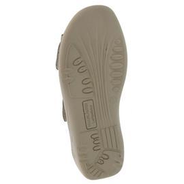 Waldläufer Kara, Pantolette, Denver / Tago (Nubuk), kiesel/platin (beige), Weite K 684505-201-802