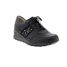 Waldläufer H-Clara, Sneaker, Glatt-/Velour-/Lackleder, notte/deepblue, Weite H 939004-301-878