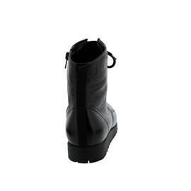 Waldläufer Hegli, Bootie, Taipei (Lackleder), schwarz, Schnürung u. Reißv., Weite H 549818-143-001
