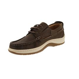 Sommerset Boat Shoes Somerton, Nubukleder, Brown, Schnürung und Gummizug, Wechselfußbett U802