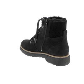 Waldläufer Hitomi Bootie, Bear Doubleface Bear (Nubuk),  Reißver., schwarz, Weite H 911802-302-001