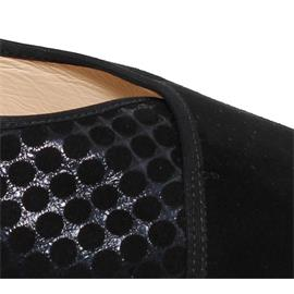 Hassia Cordoba Pumps, Samtziege-Leder, schwarz/blau, Vario-Fussbett, Extraweite K 302436-0132