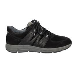 Waldläufer Haslo, Nubuk / Glattleder, schwarz / nero / asphalt, Weite H 323004-410-564