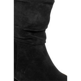 Högl City-Stiefel, Casualvelour-Leder, schwarz 104152-0100