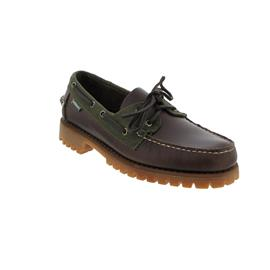 Sebago Portland Lug, Millerain, Dark Brown (Waxy Leather) / Olive (Textile) Men 7001H10-A10