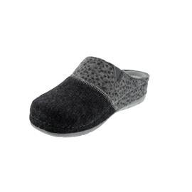 Rohde Damen Pantolette, Softfilz / Softfilz bedruckt, anthrazit, Weite G 6032-82