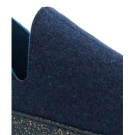 Rohde Damen Hausschuhe mit Kaltfutter, Softfilz, kobalt, Weite G, Wechselfußbett 6124-54