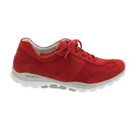 Rollingsoft Sneaker, Mesh / Samtchevreau, flame, Wechselfußbett 46.966.68