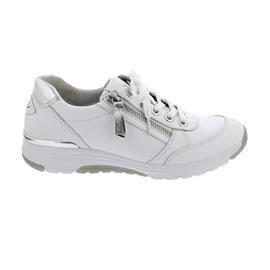 Rollingsoft Sneaker, Nappa/Specchio HT, weiss/argento, Schnür. und Reißver., 46.973.50