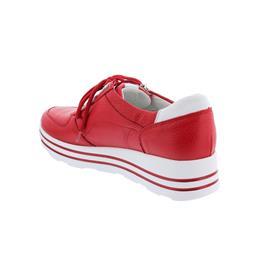 Waldläufer H-Lana, Sneaker, Hirschleder (Glattleder), rot / weiss, Weite H 758001-299-939