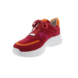 Gabor Sneaker, Samtchevreau, rubin kombi, Schnürung, 43.470.15