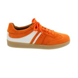 Gabor Sneaker, Samtchev. / LasVegas, orange/weiss, Wechselfußbett 43.300.12