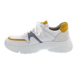 Gabor Sneaker, Las Vegas/Samtchevreau, weiss/mango komb, Schnürung, 43.470.23