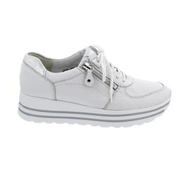 Waldläufer H-Lana, Sneaker, Hirschleder (Glattleder), weiss/ silber, Weite H 758001-299-663