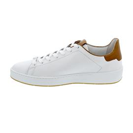 Högl Sneaker, Premiumsheep-Leder, weiss/nougat 101500-0225