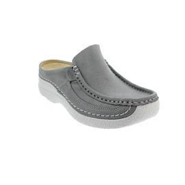 Wolky Roll-Slide, Clog, Cavia nubuck,  Light-grey, 0620215-206