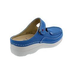 Wolky Roll Slipper, Clog, Antique nubuck, Royal-blue, 0622711-865
