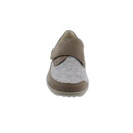 Waldläufer Henni-Soft, Halbschuh, Nubuk / Stretch,  beige/taupe/sand, Weite H, 496H31-302-970