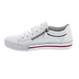 Gabor Sneaker, LasVegas / Sportylamm, weiss/marine kombi, Wechselfußbett 43.360.20