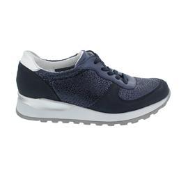 Waldläufer Hiroko-Soft, Sneaker, Denver/Abrilstr./Den, marine silber, Weite H H64001-503-808