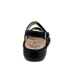 Finn Comfort Gomera, Sandale, Waving (bedr. Nubukleder), schwarz 2562-589099