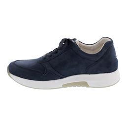 Rollingsoft Sneaker, Nubuk, blue, Schnürung und  Reißverschluss, Wechselfußbett 46.945.46