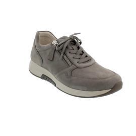 Rollingsoft Sneaker, Nubuk, fumo (grau), Schnürung und  Reißverschluss, Wechselfußbett 46.945.31