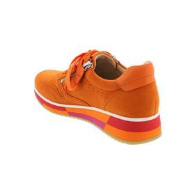 Gabor Sneaker, Samtchev. / Sportylamm, orange, Wechselfußbett 43.390.13