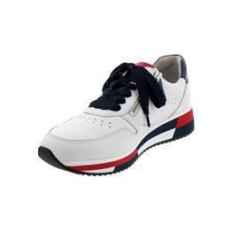 Gabor Sneaker, LasVegas / Luxor, weiss/marine kombi, Wechselfußbett 43.390.20