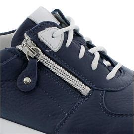 Waldläufer H-Lana, Sneaker, Hirschleder (Glattleder), marine/ LS-Str. grau, Weite H 758001-299-898