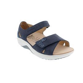 Ganter Genda, Aktiv Vario Sandale, Softnubuk-Leder,  darkblue, Kork-Fußbett, Weite G 204062-3500