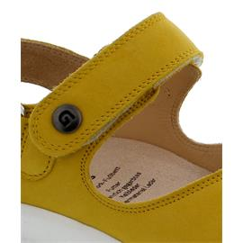 Ganter Genda, Aktiv Vario Sandale, Softnubuk-Leder,  limone, Kork-Fußbett, Weite G 204012-8400