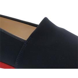 Hassia Piacenza Slipper, Stretch-Textil, ocean/multi, Vario-Fussbett, Weite G 301687-3099