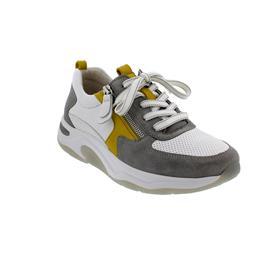Rollingsoft Sneaker, Cervo/Velour/Samt, weiss/grau/ sole (pf), Wechselfußbett 46.918.40
