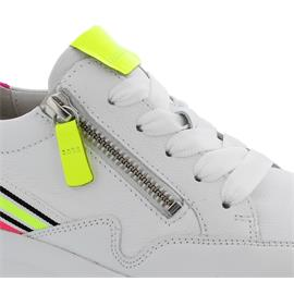Gabor Sneaker, LasVegas / Lack, weiss/neon-kombi, Wechselfußbett 43.492.23