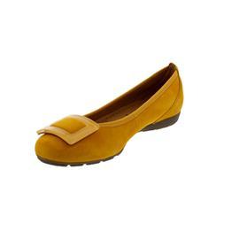 Gabor Ballerina, Samtchevreau, mango (gelb), Hovercraft-Sohle 44.164.13