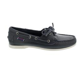 Sebago Docksides, Waxy Leather (Glattleder), blue-navy, Women 71111HW-908
