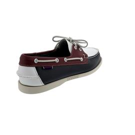 Sebago Spinnaker, Full-Grain Leather (Glattleder), navy-red-white, Men 70001B0-972