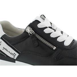 Gabor Sneaker, Nappa/Las Vegas, schwarz/weiss, Wechselfußbett, Best Fitting, 43.421.20