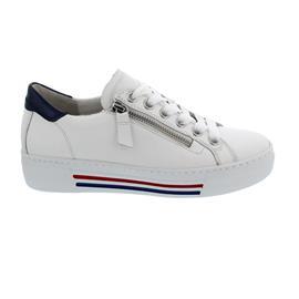Gabor Sneaker, Cervo/Luxor, weiss / pazifik (w/bl/rot), Wechselfußbett, Weite G 46.465.50