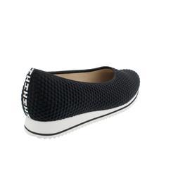 Hassia Pisa Slipper, Hexagon-Textil, schwarz, Vario-Fussbett, Weite G 301517-0100
